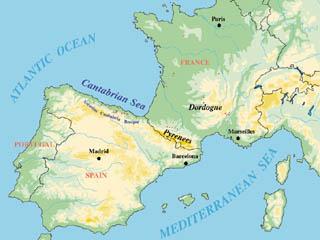 Peninsula In Europe Map.Cave Art1